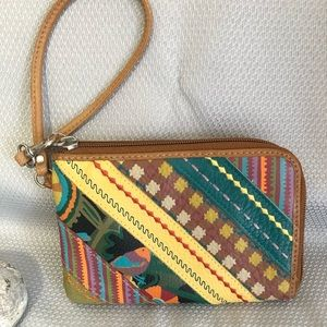 FOSSIL Pop-Stitch Wristlet